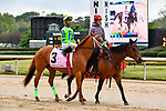 HOT SPRINGS, AR - APRIL 13:  Apple Blossom Handicap at Oaklawn Park on April 13, 2018 in Hot Springs,Arkansas.  #3 Fuhriously Kissed with jockey C.J. McMahon. (Photo by Ted McClenning/Eclipse Sportswire/Getty Images)