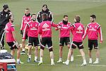 Real Madrid's Alvaro Arbeloa, Jese Rodriguez, Nacho Fernandez, Sergio Ramos, James Rodriguez, Asier Illarramendi and Isco during training session.January 30,2015.(ALTERPHOTOS/Acero)