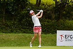 Kyoko Furuya of Japan tees off during the first round of the EFG Hong Kong Ladies Open at the Hong Kong Golf Club Old Course on May 11, 2018 in Hong Kong. Photo by Marcio Rodrigo Machado / Power Sport Images