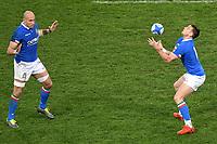 Sergio Parisse, Edoardo Padovani Italy <br /> Roma 9-02-2019 Stadio Olimpico<br /> Rugby Six Nations tournament 2019  <br /> Italy - Wales <br /> Foto Andrea Staccioli / Resini / Insidefoto