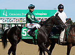 September 14, 2019 : Blood Curdling (#5, Corey Lanerie) in the post parade of the G3 Pocahontas Stakes at Churchill Downs, Louisville, Kentucky. She finished fourth. Trainer Dane Kobiskie, owner PTK LLC (Paula Haughey). By Fed Biz x Shriek (Street Cry). Mary M. Meek/ESW/CSM