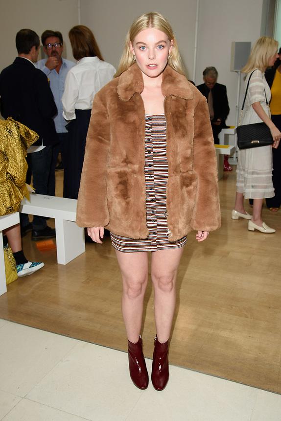Bel Powley<br /> front row at the Jasper Conran London Fashion Week SS18 catwalk show, London<br /> <br /> ©Ash Knotek  D3431  15/09/2018