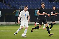 Leon Goretzka (Deutschland Germany) gegen Ranar Sigurjonsson (Island Iceland) - 25.03.2021: WM-Qualifikationsspiel Deutschland gegen Island, Schauinsland Arena Duisburg