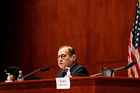 """United States Representative Jerrold Nadler (Democrat of New York), Chairman, US House Judiciary Committee speaks during a US House Judiciary committee hearing on """"Oversight of the Department of Justice: Political Interference and Threats to Prosecutorial Independence"""" on Capitol Hill in Washington DC on June 24th, 2020.<br /> Credit: Anna Moneymaker / Pool via CNP/AdMedia"""