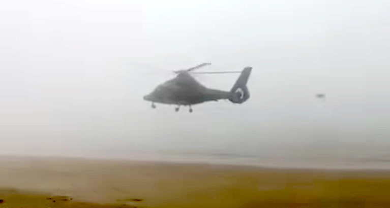 The aircraft flew south over the beach's main carpark from Ballyheigue in the direction of Barrow in County Kerry - see video below
