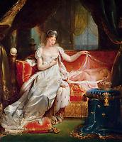 L'ImpÈratrice Marie-Louise veillant sur le sommeil du roi de Rome<br /> Franque Joseph (1774-1833)<br /> Versailles, ch'teaux de Versailles et de Trianon