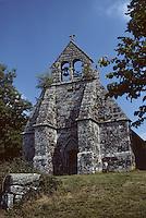Europe/France/Limousin/23/Creuse/Plateau de Gentioux: Chapelle de la commanderie des Templiers à Pallier (XII ème siècle)