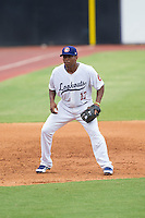 Chattanooga Lookouts third baseman Daniel Mayora (17) on defense against the Montgomery Biscuits at AT&T Field on July 23, 2014 in Chattanooga, Tennessee.  The Lookouts defeated the Biscuits 6-5. (Brian Westerholt/Four Seam Images)
