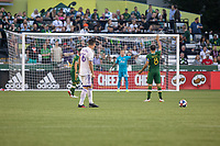 Portland, Oregon - Thursday July 18, 2019: The Portland Timbers played to a 1-1 draw in a regular season MLS game against Orlando City SC at Providence Park.