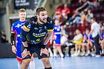 Dominik Weiss (TVB Stuttgart #6) ; BGV Handball Cup 2020 Halbfinaltag: TVB Stuttgart vs. HBW Balingen-Weilstetten am 11.09.2020 in Ludwigsburg (MHPArena), Baden-Wuerttemberg, Deutschland<br /> <br /> Foto © PIX-Sportfotos *** Foto ist honorarpflichtig! *** Auf Anfrage in hoeherer Qualitaet/Aufloesung. Belegexemplar erbeten. Veroeffentlichung ausschliesslich fuer journalistisch-publizistische Zwecke. For editorial use only.