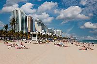 Ft. Lauderdale, Florida.  Beach Scene.