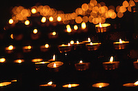 Candles in Notre Dame Cathedral, Paris, France