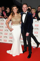 Kym Marsh and Anthony Cotton<br /> at the National TV Awards 2017 held at the O2 Arena, Greenwich, London.<br /> <br /> <br /> ©Ash Knotek  D3221  25/01/2017