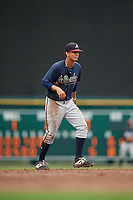 GCL Braves shortstop Vaughn Grissom (12) during a Gulf Coast League game against the GCL Orioles on August 5, 2019 at Ed Smith Stadium in Sarasota, Florida.  GCL Orioles defeated the GCL Braves 4-3 in the first game of a doubleheader.  (Mike Janes/Four Seam Images)