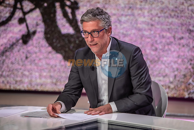 Francesco Pancaldi at the presentation of the 2021 Giro d'Italia Route in the Rai Studios in Corso Sempione, Milan, Italy. 23rd February 2021.  <br /> Picture: LaPresse/Claudio Furlan   Cyclefile<br /> <br /> All photos usage must carry mandatory copyright credit (© Cyclefile   LaPresse/Claudio Furlan)