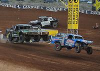 Mar. 20, 2011; Chandler, AZ, USA;  LOORRS pro two driver Robby Woods (99) leads Jeremy McGrath during round two at Firebird International Raceway. Mandatory Credit: Mark J. Rebilas-