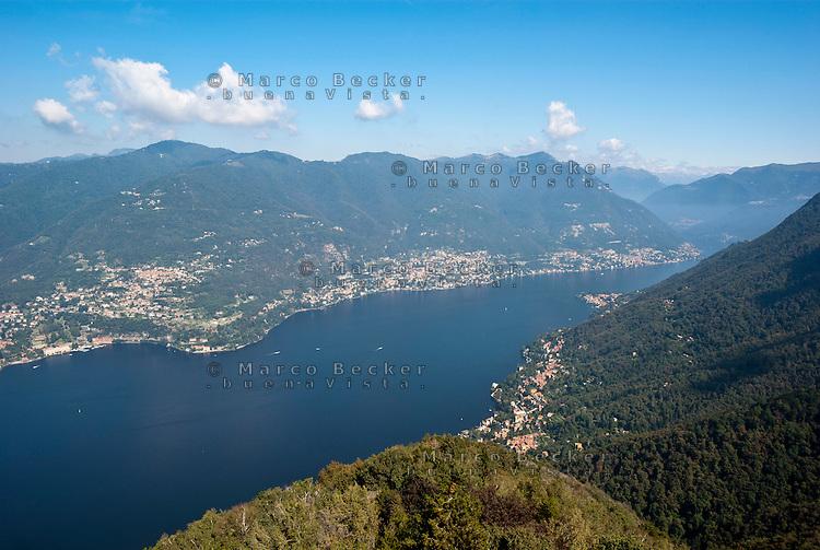 Lago di Como, veduta da Brunate (Como) --- Lake Como, view from Brunate (Como)