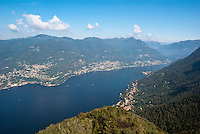 Lago di Como, veduta da Brunate (Como) --- Lake Como, view from Brunate (Como)