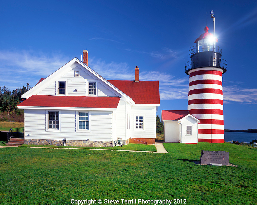 West Quoddy Head Lighthouse located in Lubec, Maine