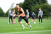 Courtney Baker-Richardson of Swansea City in action during the Swansea City Training Session at The Fairwood Training Ground, Wales, UK. Tuesday 11th September 2018