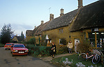 Great Tew Oxfordshire 1986. The village shop.