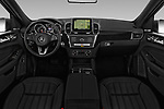 Stock photo of straight dashboard view of 2018 Mercedes Benz GLE-Class GLE350 5 Door SUV Dashboard