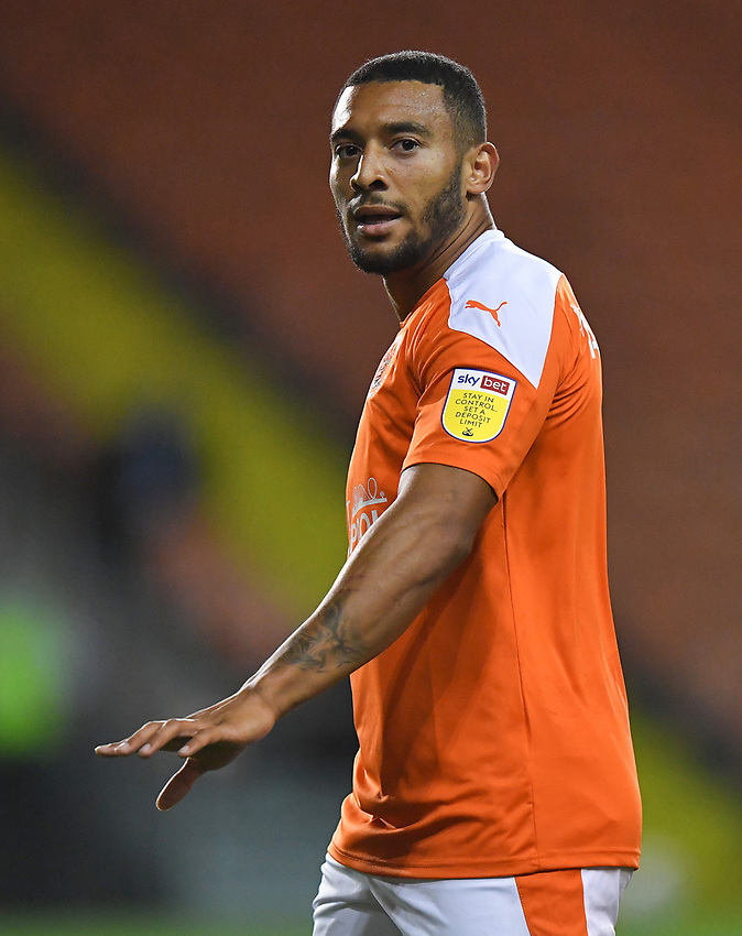 Blackpool's Keshi Anderson<br /> <br /> Photographer Dave Howarth/CameraSport<br /> <br /> EFL Trophy Northern Section Group G - Blackpool v Barrow - Tuesday 8th September 2020 - Bloomfield Road - Blackpool<br />  <br /> World Copyright © 2020 CameraSport. All rights reserved. 43 Linden Ave. Countesthorpe. Leicester. England. LE8 5PG - Tel: +44 (0) 116 277 4147 - admin@camerasport.com - www.camerasport.com