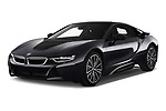 2019 BMW i8 Base 2 Door Coupe angular front stock photos of front three quarter view