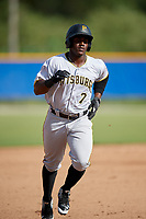 Pittsburgh Pirates Yondry Contreras (7) runs the bases during an Instructional League game against the Toronto Blue Jays on October 14, 2017 at the Englebert Complex in Dunedin, Florida.  (Mike Janes/Four Seam Images)