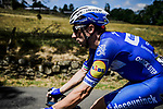 The peloton including sprinter Elia Viviani (ITA) Deceuninck-Quick Step in action during Stage 10 of the 2019 Tour de France running 217.5km from Saint-Flour to Albi, France. 15th July 2019.<br /> Picture: ASO/Pauline Ballet | Cyclefile<br /> All photos usage must carry mandatory copyright credit (© Cyclefile | ASO/Pauline Ballet)