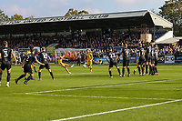 9th October 2021;  VBS Community Stadium, Sutton, London; EFL League 2 football, Sutton United versus Port Vale; Sutton with a direct free kick from the edge of the area.