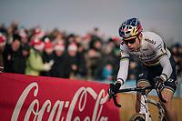 Wout van Aert (BEL/Crelan-Charles)<br /> <br /> Elite Men's Race<br /> Belgian National CX Championships / Koksijde 2018
