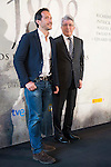 """The director of the film Salvador Calvo and the producer Enrique Cerezo during the photocall of the start filming the spanish film """"1898. Los ultimos de Filipinas"""" in Madrid. May 05, 2016. (ALTERPHOTOS/BorjaB.Hojas)"""