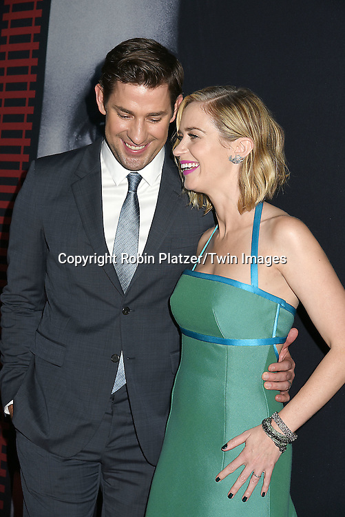 """actress Emily Blunt and husband John Krasinski attend """"The Girl on the Train"""" New York Premiere on October 4, 2016 at Regal E-Walk Stadium 13 & RPX  in New York,New York,  USA.<br /> <br /> photo by Robin Platzer/Twin Images<br />  <br /> phone number 212-935-0770"""