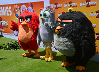 """LOS ANGELES, USA. August 10, 2019: Red, Silver & Bomb at the premiere of """"The Angry Birds Movie 2"""" at the Regency Village Theatre.<br /> Picture: Paul Smith/Featureflash"""