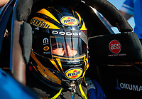 Jul 26, 2019; Sonoma, CA, USA; NHRA top fuel driver Leah Pritchett during qualifying for the Sonoma Nationals at Sonoma Raceway. Mandatory Credit: Mark J. Rebilas-USA TODAY Sports