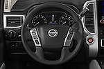 Car pictures of steering wheel view of a 2020 Nissan Titan SV 4 Door Pick-up Steering Wheel