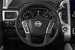 Car pictures of steering wheel view of a 2020 Nissan Titan SV 4 Door Pick-up Steering Wheel