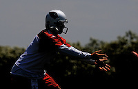 May 19, 2009; Tempe, AZ, USA; Arizona Cardinals quarterback Tyler Palko tosses the ball during organized team activities at the Cardinals practice facility. Mandatory Credit: Mark J. Rebilas-