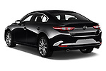 Car pictures of rear three quarter view of 2020 Mazda Mazda3 Skycruise 4 Door Sedan Angular Rear