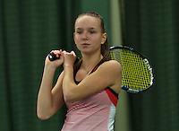 Rotterdam, The Netherlands, March 19, 2016,  TV Victoria, NOJK 14/18 years, Perla Nieuwboer (NED)<br /> Photo: Tennisimages/Henk Koster