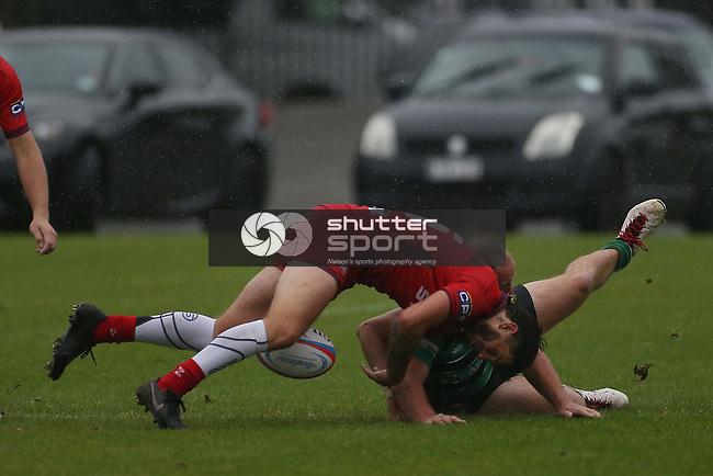 NELSON, NEW ZEALAND -APRIL 10: Div 2 Rugby - Marist v Stoke PreSeason Saturday 10  April 2021,Trafalgar Park,Nelson New Zealand. (Photo by Evan Barnes Shuttersport Limited)