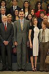 Spanish Royals King Felipe VI of Spain and Queen Letizia of Spain during a Royal Audience at Zarzuela Palace in Madrid, Spain. May 18, 2015. (ALTERPHOTOS/Victor Blanco)