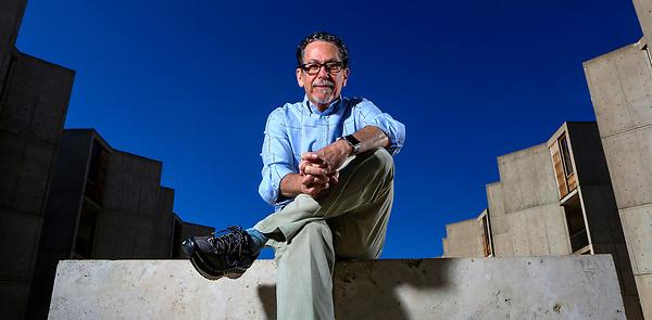 Nov. 24, 2015. La Jolla,  CA. USA| Dr. Ron Evans, Salk scientist and serial entrepreneur at the Salk Institute for Biological Studies.|Photos by Jamie Scott Lytle. Copyright.