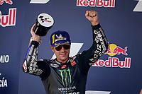Maverick Vinales Yamaha celebrates his second place <br /> Jerez 26/07/2020 Moto Gp Andalucia 2020 / Spain<br /> Photo Yamaha Press Office / Insidefoto <br /> EDITORIAL USE ONLY