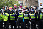 """© Joel Goodman - 07973 332324 . 11/06/2017 . Manchester , UK . Anti fascist protesters . Demonstration against Islamic hate , organised by former EDL leader Tommy Robinson's """" UK Against Hate """" and opposed by a counter demonstration of anti-fascist groups . UK Against Hate say their silent march from Piccadilly Train Station to a rally in Piccadilly Gardens in central Manchester is in response to a terrorist attack at an Ariana Grande concert in Manchester , and is on the anniversary of the gun massacre at the Pulse nightclub in Orlando . Photo credit : Joel Goodman"""