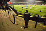 York City 1 Cambridge United 2, 10/10/2006. Bootham Crescent, Football Conference. Solitary Cambridge fan and 4 players watch the ball. Photo by Paul Thompson. In York's second season since relegation form the Football League they finished 4th, and qualified for the play offs, where they suffered a 2-1 aggregate defeat<br /> to Morecambe. Cambridge finished 17th of 24. Morecambe beat Exeter in the play off final, and are still (in 2020) members of the Football League. York reached the 2010 play-off final at Wembley Stadium, but were beaten 3–1 by Oxford United. Two years later they won the FA Trophy and the conference play final at Wembley in the same week. However the Minstermen were relegated from the Football league in 2015, and from the Conference to the National League North in 2016.