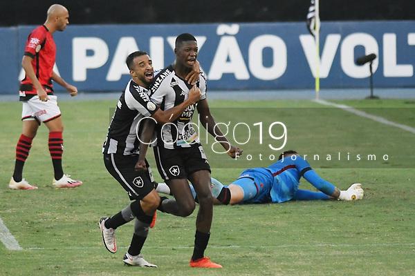 Rio de Janeiro (RJ), 20/01/2021 - Botafogo-Atlético-GO - Matheus Babi jogador do Botafogo comemora seu gol,durante partida contra o Atlético-GO,válida pela 31ª rodada do Campeonato Brasileiro,realizada no Estádio Nilton Santos (Engenhão), na zona norte do Rio de Janeiro,nesta quarta-feira (20).