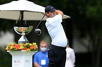 4th September 2020, Atlanta GA, USA;  Patrick Reed tees off during the first round of the TOUR Championship  at the East Lake Golf Club in Atlanta, GA.
