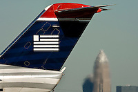 Charlotte-Douglas International Airport, one of US Airways' largest hubs, serves 10 major airlines, including Air Canada, Air Tran, American, Continental, Delta, JetBlue, Lufthansa, Northwest and United.